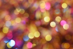 Fundo diferente do bokeh das cores Textura do fundo do Natal Imagens de Stock Royalty Free