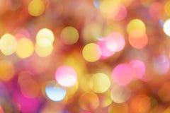 Fundo diferente do bokeh das cores Textura do fundo do Natal Fotos de Stock