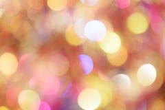 Fundo diferente do bokeh das cores Textura do fundo do Natal Fotografia de Stock