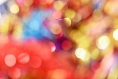 Fundo diferente do bokeh das cores Textura do fundo do Natal Imagem de Stock Royalty Free