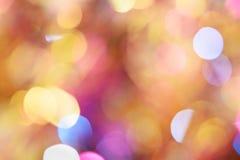 Fundo diferente do bokeh das cores Textura do fundo do Natal Fotografia de Stock Royalty Free