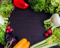 Fundo diferente dos vegetais crus Foto de Stock Royalty Free