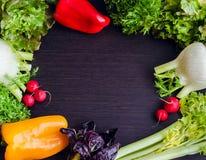Fundo diferente dos vegetais crus Fotos de Stock Royalty Free