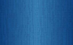 Fundo digital abstrato com teste padrão de código binário na obscuridade - cor azul Foto de Stock