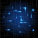 Fundo digital abstrato com textura da placa de circuito da tecnologia Ilustração eletrônica do cartão-matriz Uma comunicação e co ilustração stock