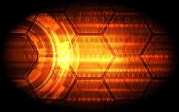 Fundo digital abstrato da tecnologia, ilustração do vetor Foto de Stock Royalty Free