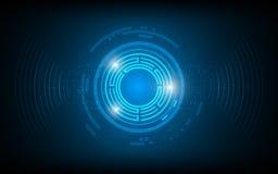 Fundo digital abstrato do conceito da inovação da tecnologia de design do raio da onda sadia ilustração royalty free
