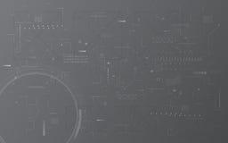 Fundo digital abstrato do conceito de projeto da montagem do teste padrão da textura do computador de comunicação da tecnologia Fotografia de Stock Royalty Free