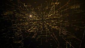 Fundo digital amarelo futurista gráfico ilustração do vetor