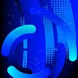 Fundo digital do conceito da tecnologia da tecnologia abstrata olá! ilustração do vetor