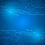 Fundo digital do projeto da inovação do teste padrão da textura do circuito abstrato Fotografia de Stock
