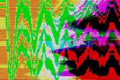 Fundo digital do sumário do pulso aleatório do computador, tela ilustração do vetor