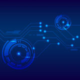 Fundo digital futurista da tecnologia abstrata Foto de Stock