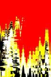 Fundo digital vermelho ilustração do vetor
