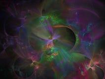 Fundo dinâmico digital do fluxo da ciência do contexto do molde da decoração do movimento da cor abstrata do fractal, teste padrã ilustração stock