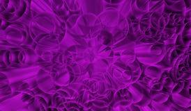 Fundo dinâmico violeta dentro com explosão dos círculos na perspectiva Imagens de Stock Royalty Free