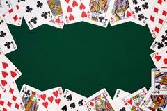 Fundo dispersado dos cartões de jogo Foto de Stock