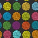Fundo do às bolinhas da cor do arco-íris, teste padrão sem emenda embroidery Foto de Stock Royalty Free