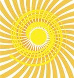 Fundo do ícone do sol de Swirly ilustração do vetor
