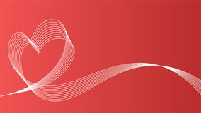 Fundo do ícone do vetor de onda do coração Foto de Stock