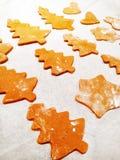 Fundo do alimento de cookies caseiros do pão do gengibre do Natal tradicional Imagens de Stock