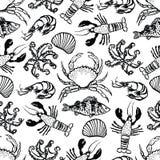 Fundo do alimento de mar Imagem de Stock