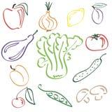 Fundo do alimento do Vegan Ilustração Stock