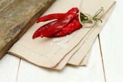 Fundo do alimento do vintage - sal e pimenta Foto de Stock Royalty Free