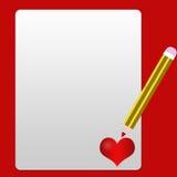Fundo do amor ilustração do vetor