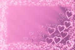 Fundo do amor com corações fotos de stock