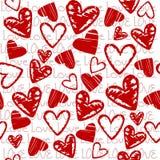 Fundo do amor com corações estilizados ilustração do vetor
