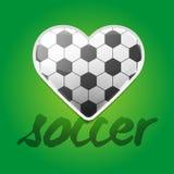 Fundo do amor do futebol Imagens de Stock Royalty Free