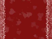 Fundo do amor dos corações Fotografia de Stock