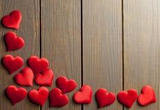 Fundo do amor dos corações - vetor Fotos de Stock Royalty Free