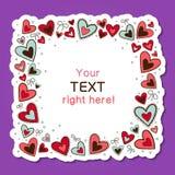 Fundo do amor dos corações - vetor Imagens de Stock Royalty Free