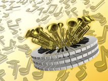 Fundo do anel da música ilustração do vetor