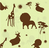 Fundo do animal Ilustração Royalty Free