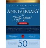 Fundo do aniversário, 50 anos Foto de Stock
