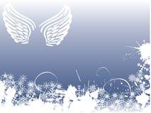 Fundo do anjo do inverno ilustração stock