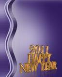 Fundo do ano 2011 novo feliz Fotografia de Stock Royalty Free