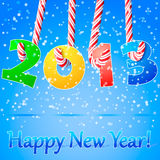 Fundo do ano 2013 novo feliz. ilustração do vetor