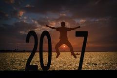 Fundo 2017 do ano da notícia Imagem de Stock