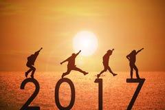 fundo do ano de 2017 notícias Foto de Stock
