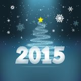 Fundo 2015 do ano novo Imagem de Stock Royalty Free