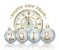 Fundo 2018 do ano novo Fotografia de Stock