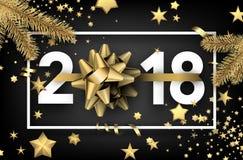 fundo do ano 2018 novo com estrelas Foto de Stock Royalty Free