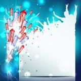 Fundo do ano novo com fogos-de-artifício Imagem de Stock Royalty Free