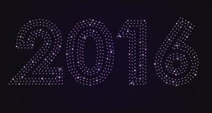 Fundo 2016 do ano novo das estrelas brilhantes Fotografia de Stock Royalty Free