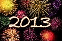 Fundo do ano novo dos fogos-de-artifício Fotografia de Stock