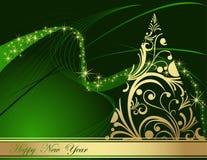 Fundo do ano novo feliz ilustração stock